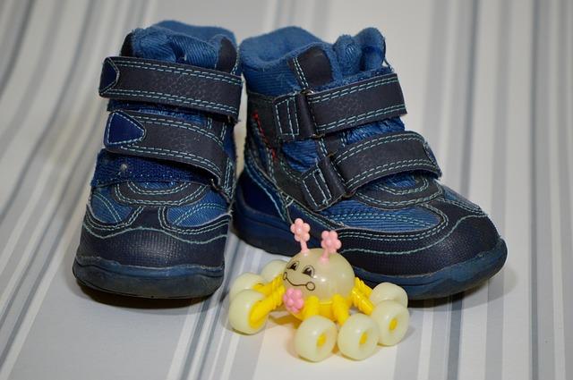 dětské modré botičky