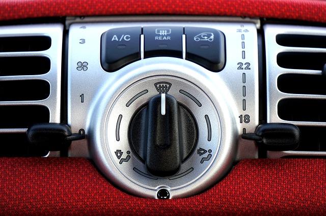 klimatizace, auto, ovládání