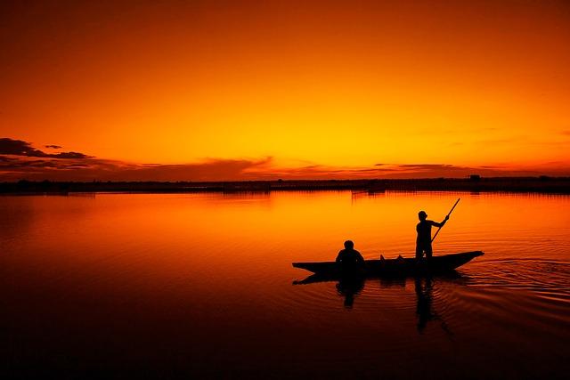 rybaření na člunu