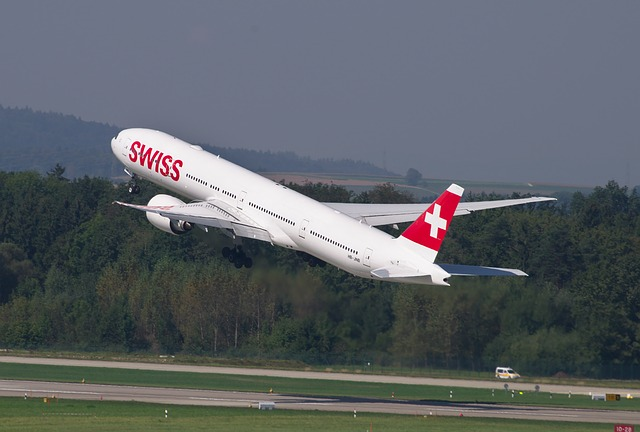 Vzlétající Boeing společnost Swiss