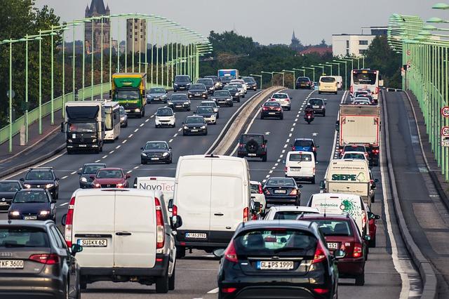 hustý dálniční provoz
