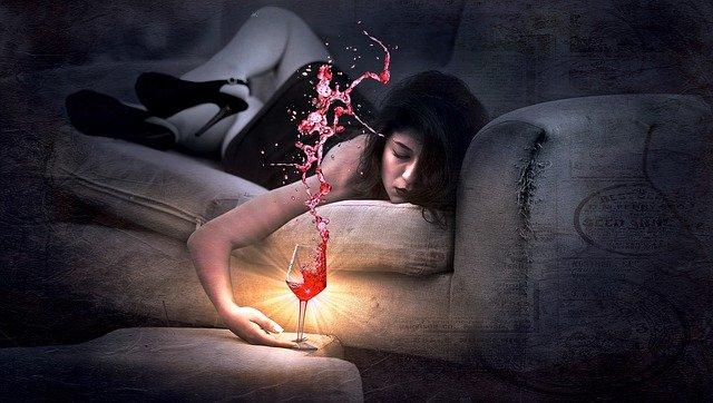 výstřik vína