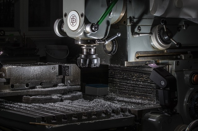 CNC frézka po obrábění